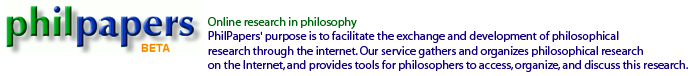 PhilPapers' purpose is to facilitate the exchange and development of philosophical research through the internet. Our service gathers and organizes philosophical research on the Internet, and provides tools for philosophers to access, organize, and discuss this research. 